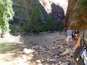 Beginning of The Narrows hike Zion