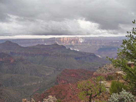 Sun and Colorado River from North Rim Grand Canyon