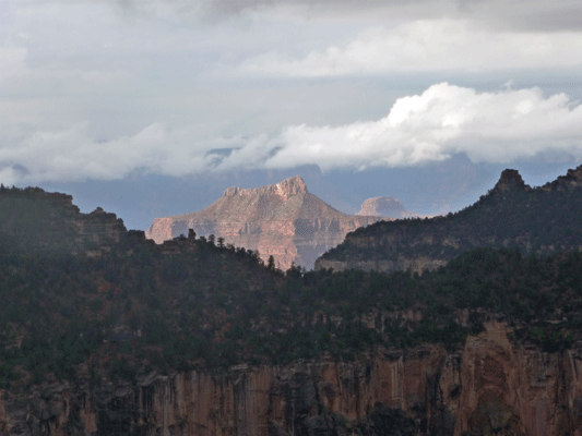 View of Grand Canyon from North Rim Lodge