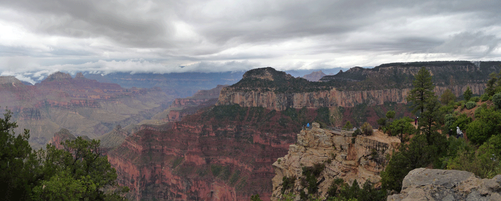 Panorama of Grand Canyon from North Rim Lodge