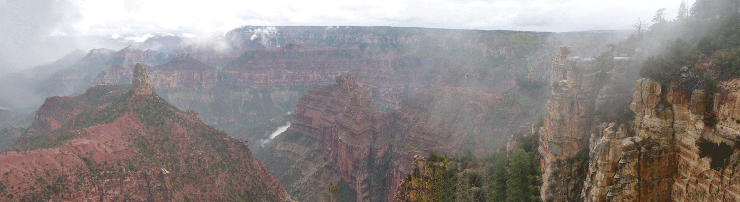 Point Imperial North Rim Grand Canyon Panorama