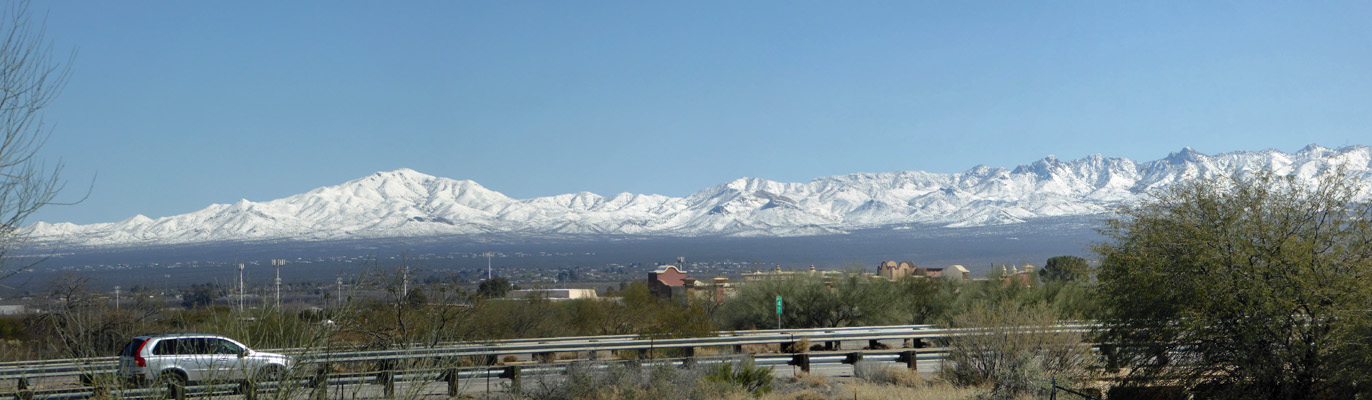 Snowy mountains from Rancho Resort