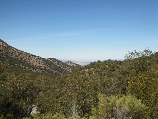 View from top of Madera Canyon