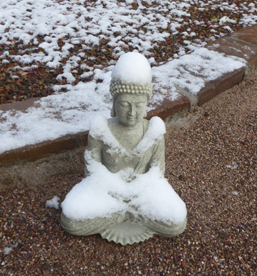 Snow topped Buddha