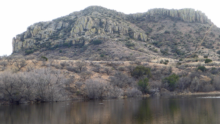 Rock formations at Arivaca Lake