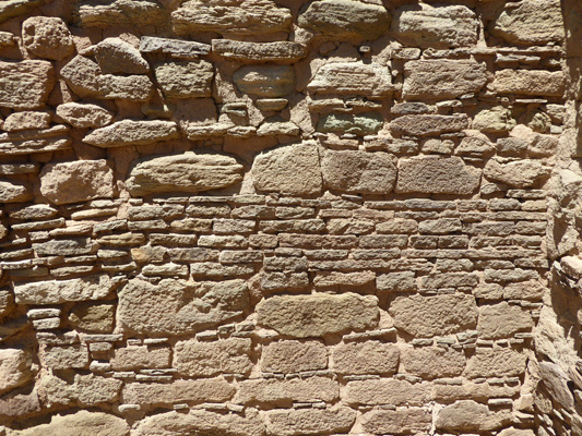 Stone layers Aztec Ruins NM