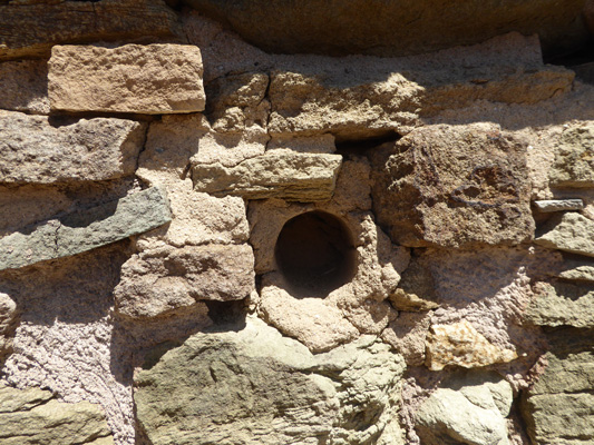 Ceiling post hole Aztec Ruins NM