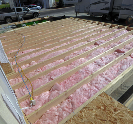 Insulation between joists