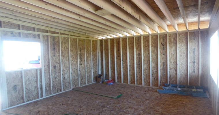 Addition with sheathing