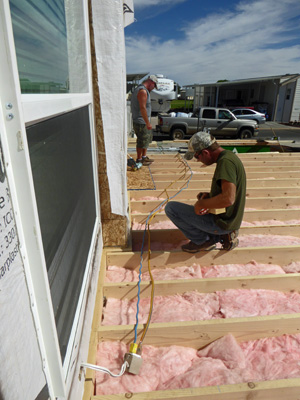 Sheathing floors