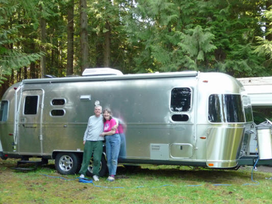 Walter Cooke and Sara Schurr and their 2014 Airstream