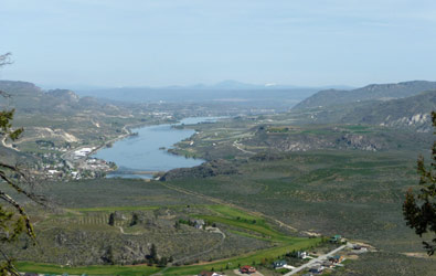 Pateros and beyond from top of trail Alta Lake State Park WA