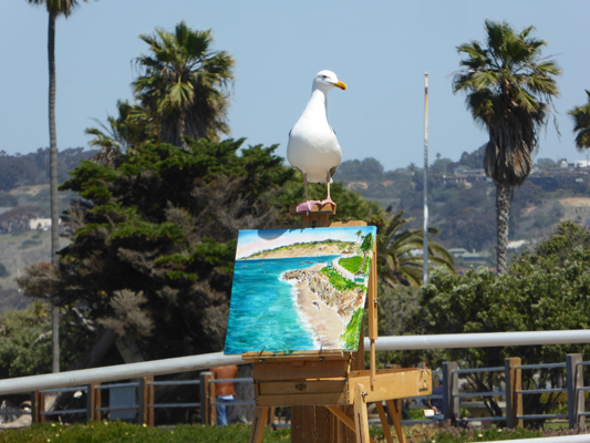 Sea Gull on an easel