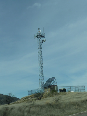 Border Patrol Tower Ruby Road near Arivaca Lake