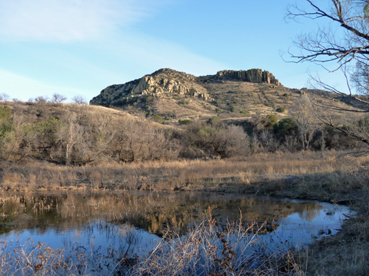 Arivaca Lake hills reflected