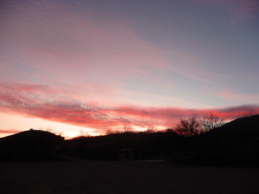 Sunset Arivaca Lake AZ
