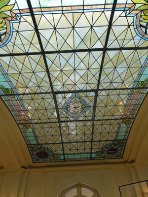 Fordyce lounge stained glass ceiling