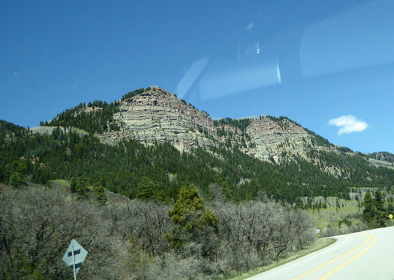 View of cliffs along Hwy 550