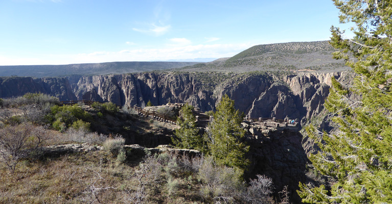 Gunnison Point from Visitor Center