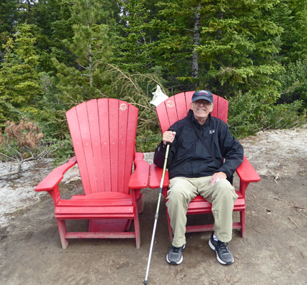 Walter Cooke Red Chair Banff