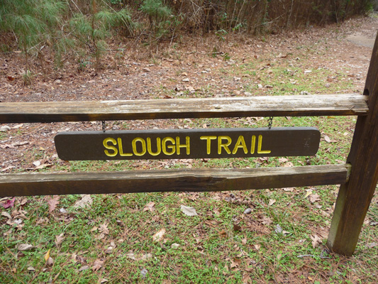 Slough Trail sign Martin Dies Jr SP