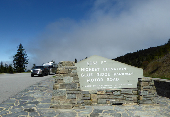 Highest point on Blue Ridge Parkway
