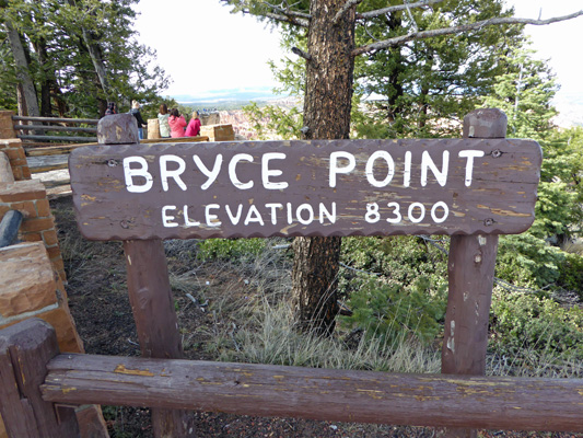 Bryce Point Sign