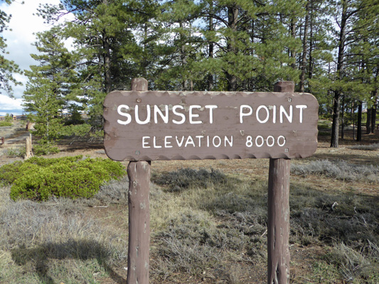 Sunset Point sign