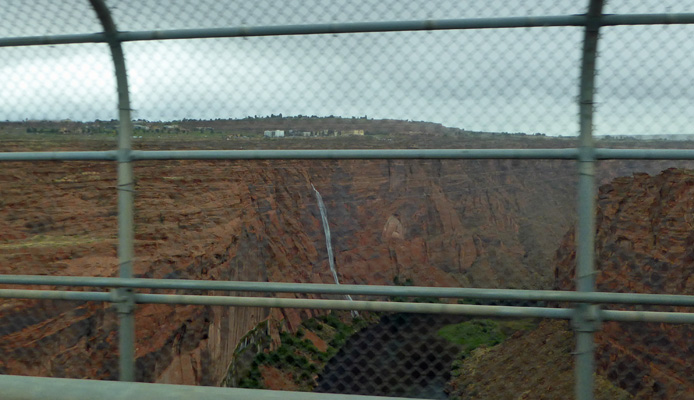 View from top of Glen Canyon Dam