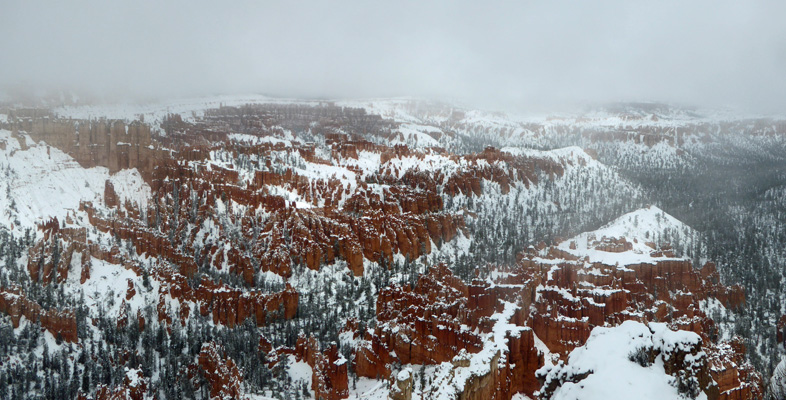 Bryce Pt in snow