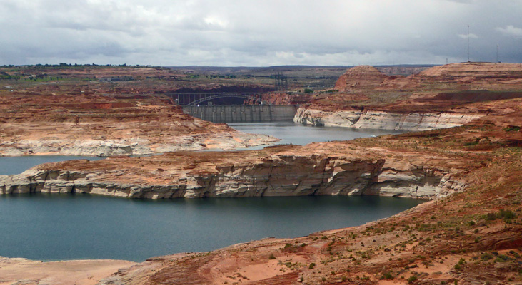 Glen Canyon Dam from Navajo Pt