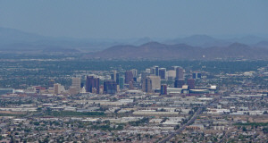 Downtown Phoenix from South Mountain Park