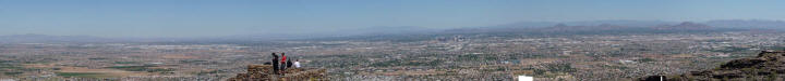Panorama view of Phoenix from South Mountain Park
