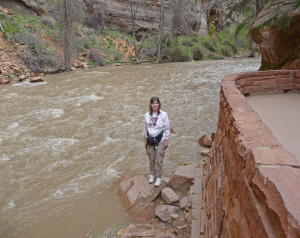 Sara Schurr at The Narrow Zion National Park