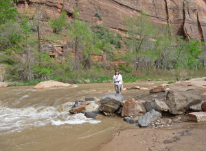 Sara Schurr at Virgin River Zion National Park