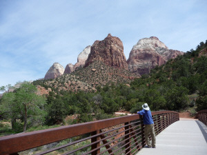 Walter Cooke Bridge on Par'us Trail Zion National Park