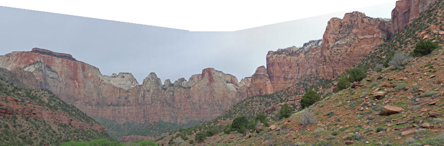 West Temple Panorama Zion National Park