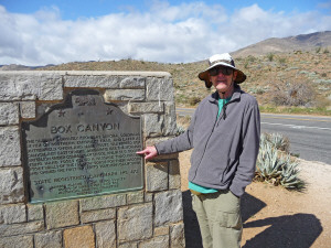 Walter Cooke and Box Canyon Historical Landmark Anza Borrego State Park CA
