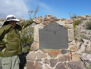 Walter Cooke and Foot and Walker Pass Historical Marker Anza Borrego State Park CA