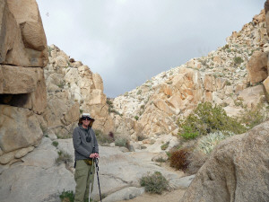 Walter Cooke at end of Pictograph Trail Anza Borrego State Park