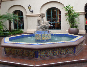 Fountain in front of the Prado Restaurant in Balboa Park San Diego CA