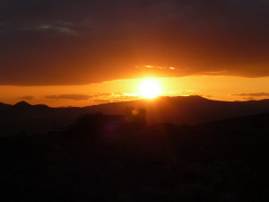 Sunset at Calico CA