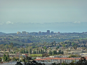 View of La Jolla and UCSD from Miramar Lake