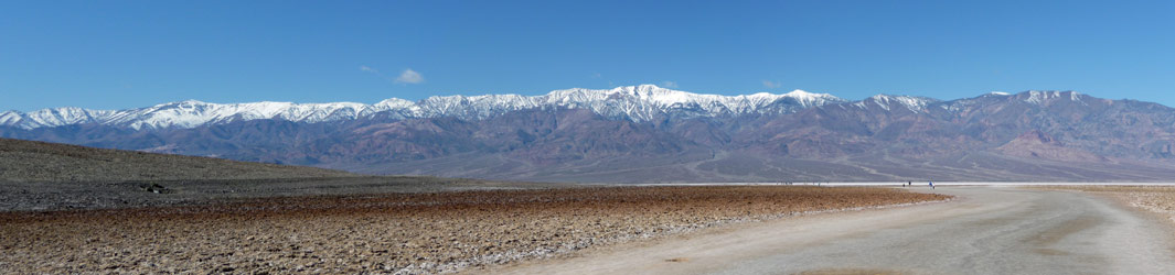 Panorama from Badwater Death Valley National Park CA