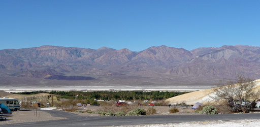 Death Valley National Park CA from Texas Springs Campground