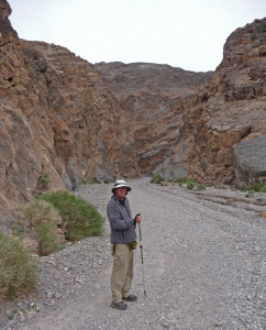Walter Cooke at the mouth of Titus Canyon Death Valley National Park CA