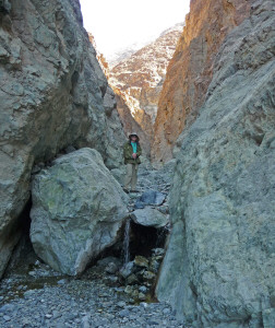 Walter Cooke at second falls on Willow Canyon Trail Death Valley National Park CA
