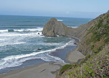 Oregon coast north of Gold Beach OR