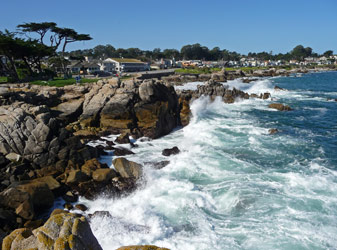 Surf at Pacific Grove, CA