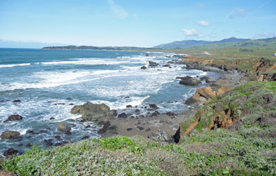 Coast north of San Simeon CA